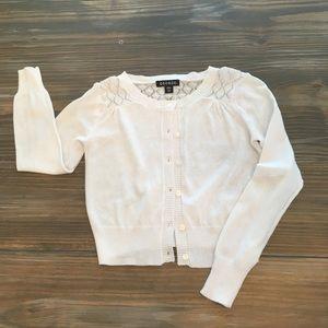 George Little Girls White Cardigan Sweater